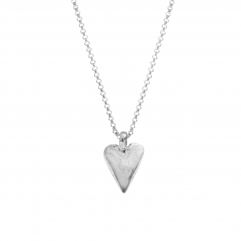 Silver Midi Heart Necklace