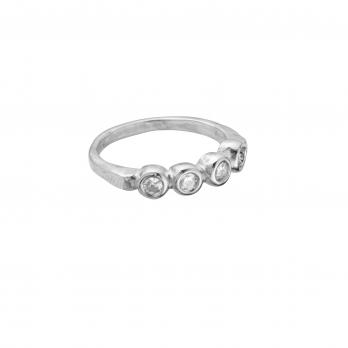 The MARMOLADA Silver Diamond Ring