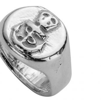 Silver Nautical Ring detailed
