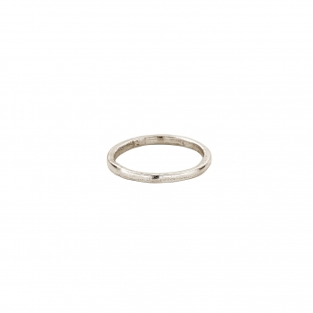 Simple White Gold Wedding Band