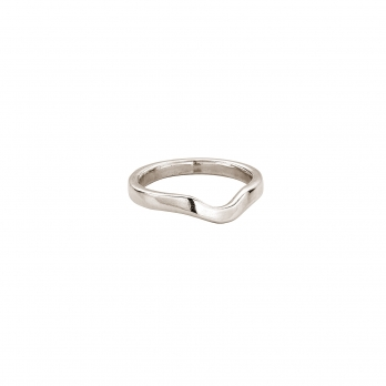 White Gold Ladies Wave Wedding Band