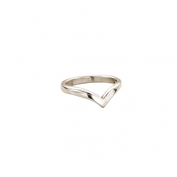 Ladies White Gold Wishbone Wedding Band