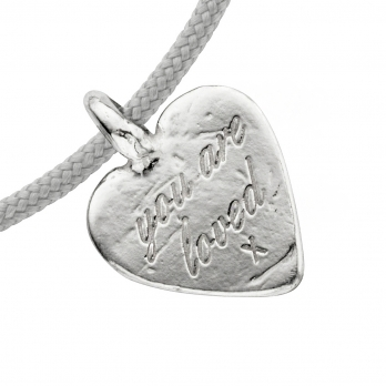 Silver Medium You Are Loved Sailing Rope detailed