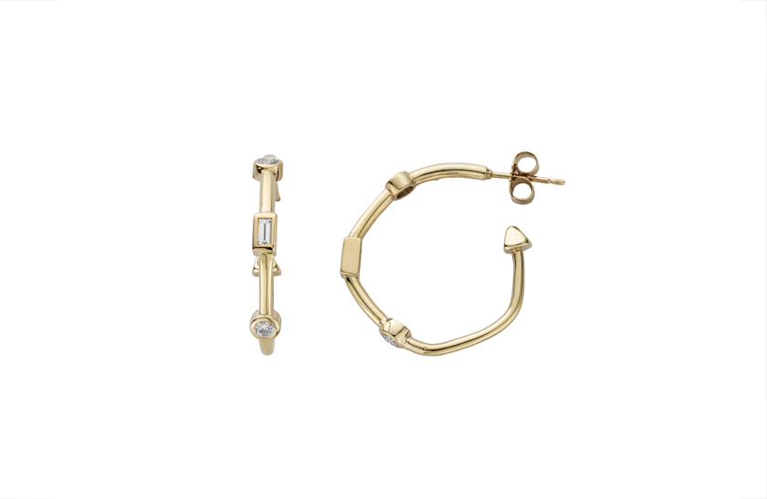 Luxury Diamond Cupid Hoops