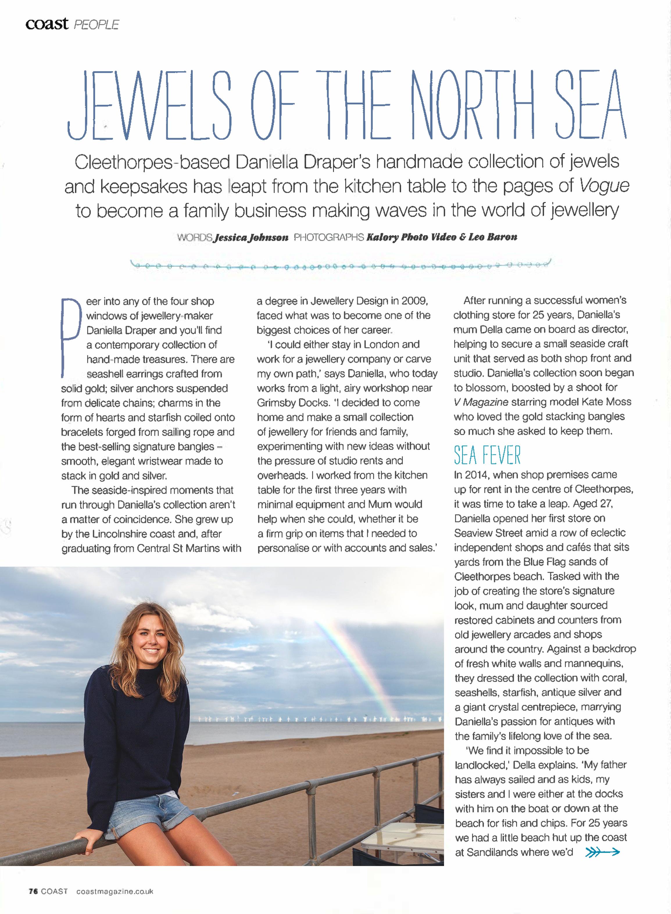 Daniella Draper Coast Magazine