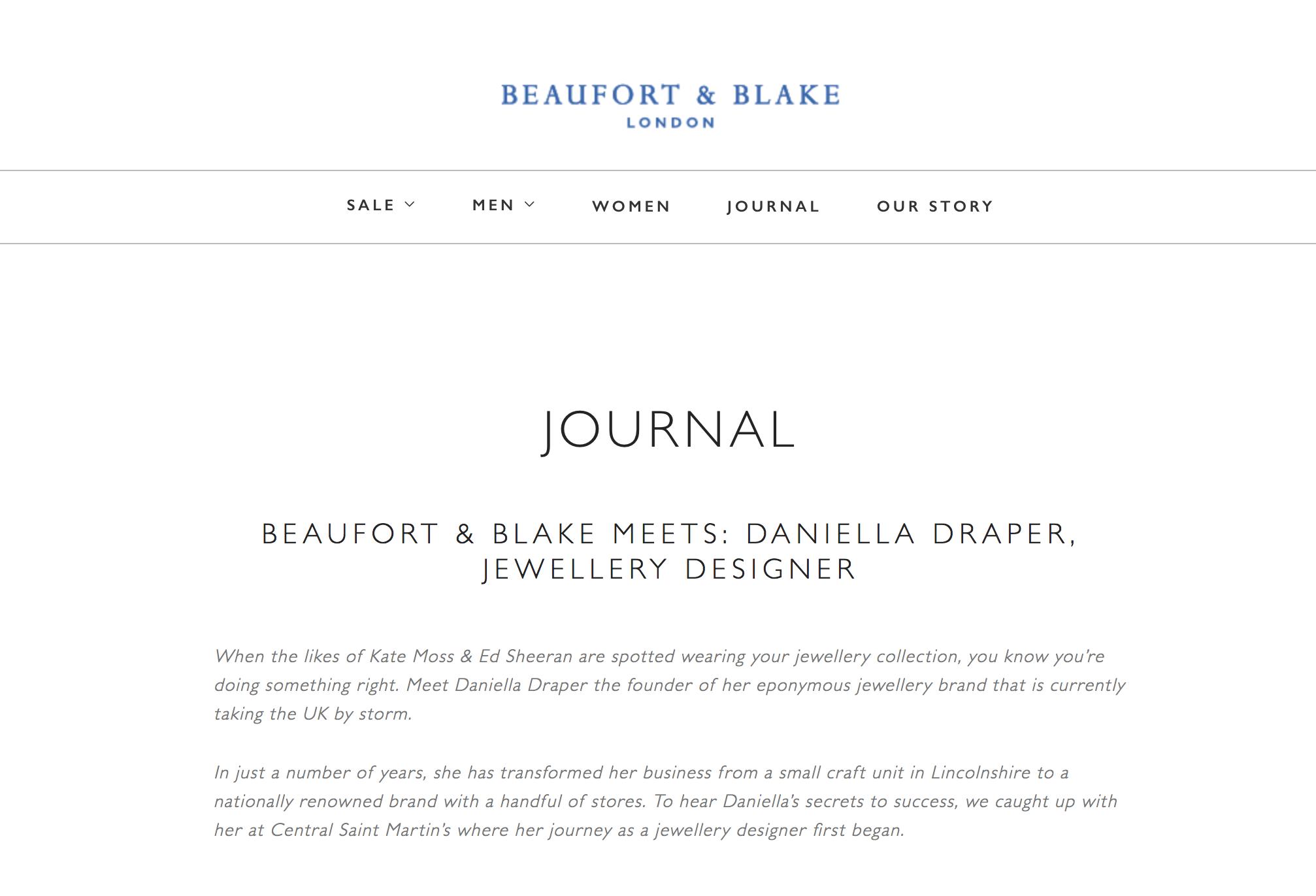 Beaufort & Blake, Daniella Draper