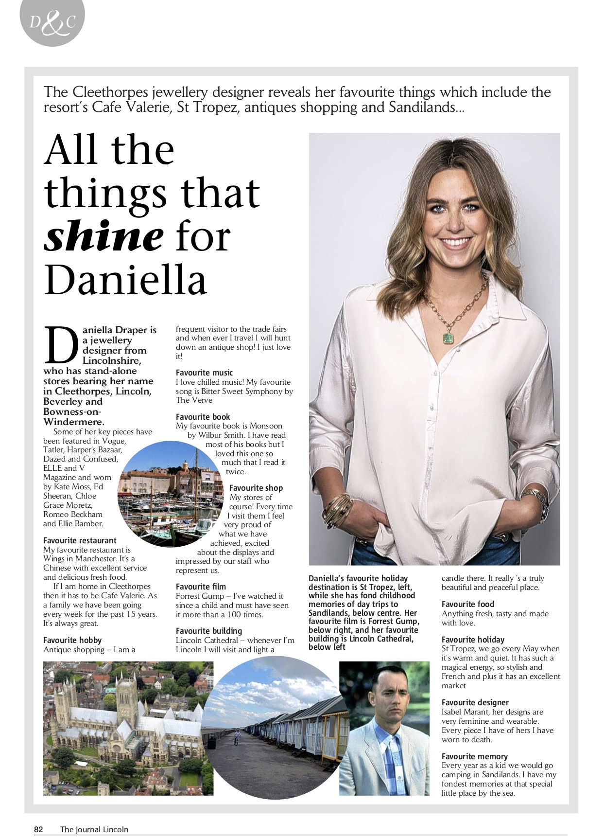Daniella Draper in The Lincolnshire Journal