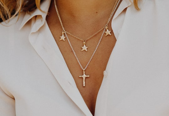 Silver & Gold Cross Necklace, Daniella Draper