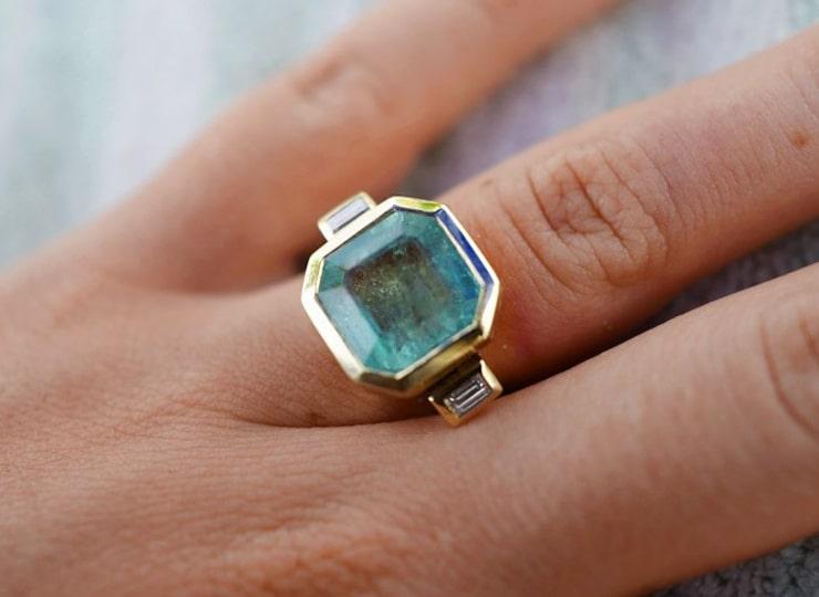 PHOEBE Cinderella Emerald & Gold Ring